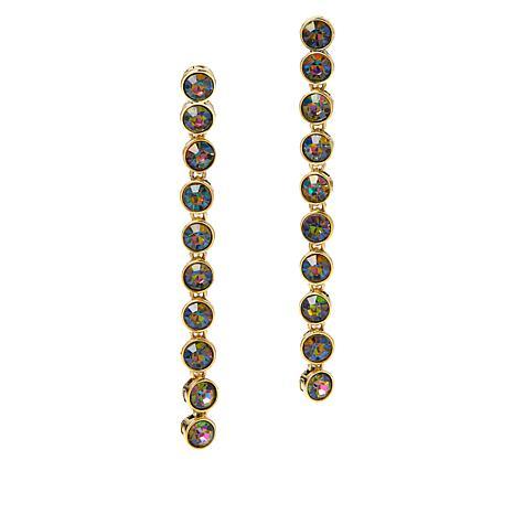"Heidi Daus ""On-Line"" Linear Drop Earrings"