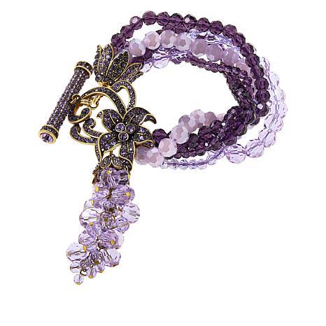 "Heidi Daus ""Perennial Cluster"" Beaded Tassel Bracelet"