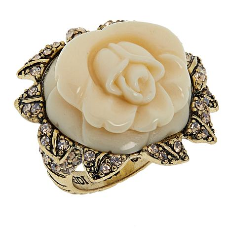"Heidi Daus ""Premier Rose"" Crystal Ring"