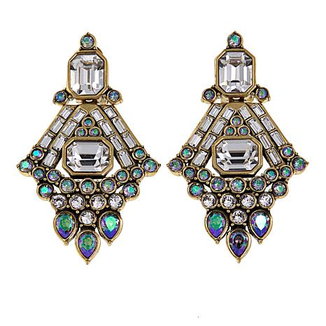 "Heidi Daus ""Quite Carolyn"" Crystal Drop Earrings"