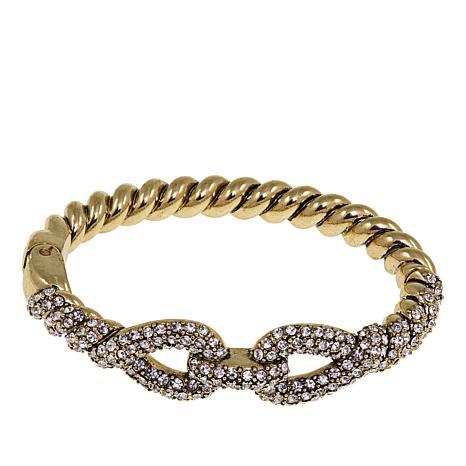 "Heidi Daus ""Sleek and Sophisticated"" Crystal Bangle Bracelet"