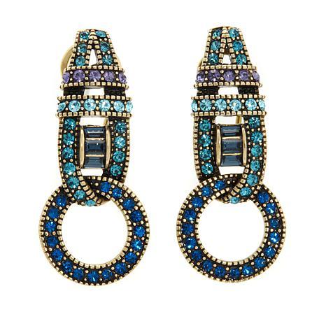 """Heidi Daus """"Sparkling Attraction"""" Crystal Earrings"""
