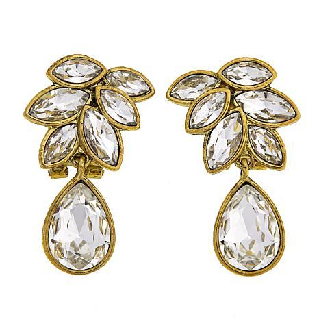 """Heidi Daus """"Sparkling Sash"""" Crystal Drop Earrings"""