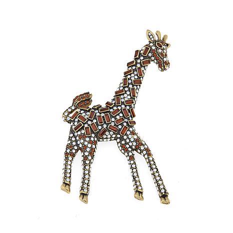 a4f9cf6d8 Swarovski Giraffe Pin Swan Signed Black Enamel Crystals Misty Lane. Heidi  Daus Spotted Beauty Crystal Giraffe Pin 8413703 Hsn