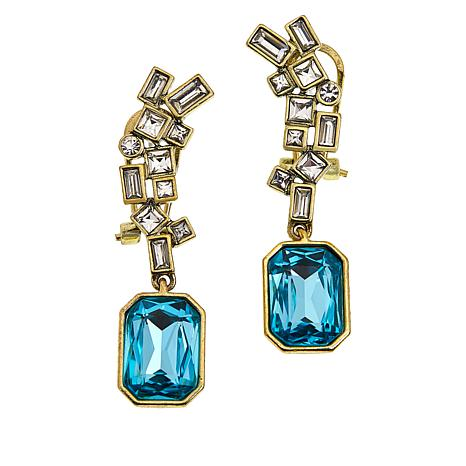 "Heidi Daus ""The High Life"" Crystal Drop Earrings"