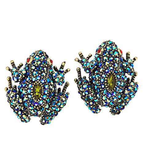 """Heidi Daus """"Toad-ally Fabulous"""" Crystal-Accented Earrings"""