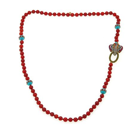 "Heidi Daus ""Trunk Show"" Beaded Crystal Toggle Necklace"