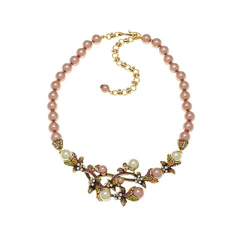 """Heidi Daus """"Vine and Divine"""" Simulated Pearl Necklace"""