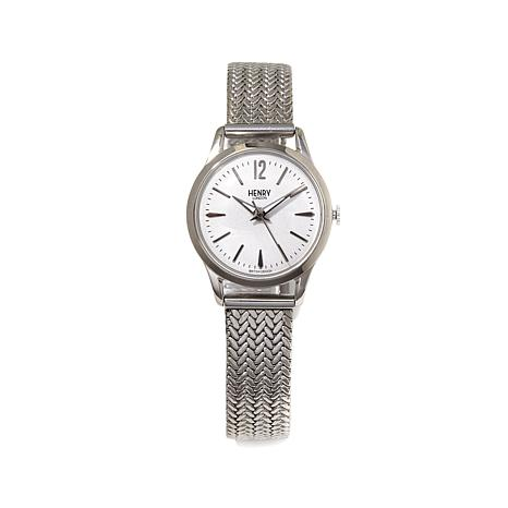 "Henry London ""Edgware"" Milanese Mesh Bracelet Watch"