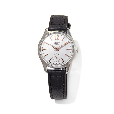 Henry London Highgate 60-Second Subdial Strap Watch