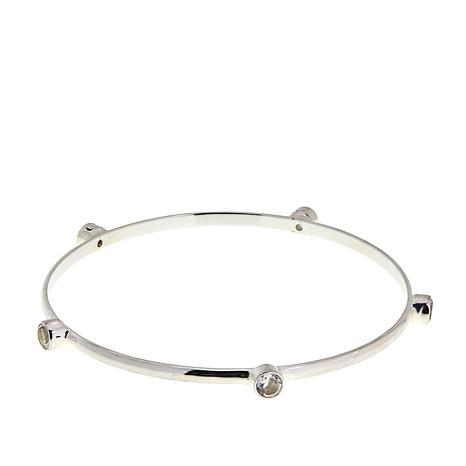 Herkimer Mines Diamond Quartz Bangle Bracelet