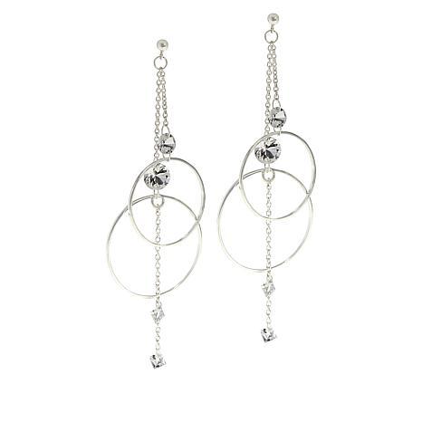 "Herkimer Mines ""Diamond"" Quartz Multi-Cut Drop Earrings"