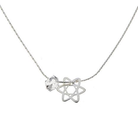 "Herkimer Mines ""Diamond"" Quartz Simple Energy Chain Necklace"