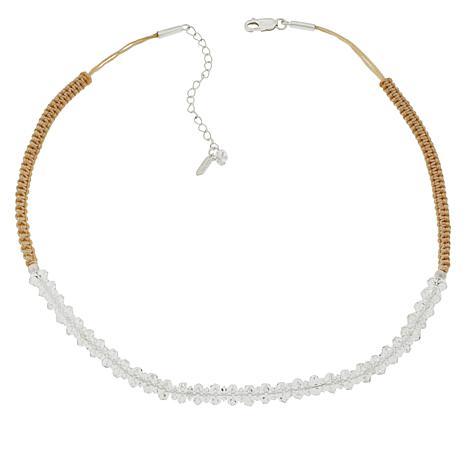 "Herkimer Mines Herkimer ""Diamond"" Quartz Adjustable Macrame Necklace"