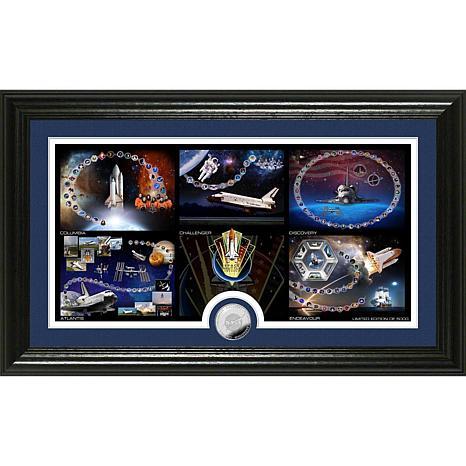 Highland Mint Space Shuttle Program Shuttle Launch Coin Photo Mint