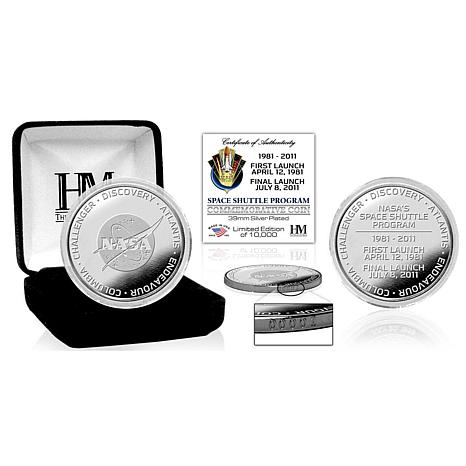 Highland Mint Space Shuttle Program Silver Coin
