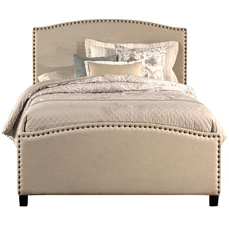 Hillsdale Kerstein King Bed with Rails - Light Taupe