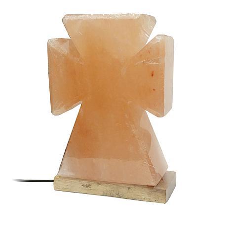 Himalite Hand-Carved Himalayan Salt LED Cross Lamp