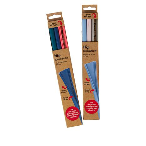 HIP 6-pack Silicone Reusable Straws