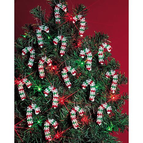 Holiday Beaded Ornament Kit - Mini Candy Canes