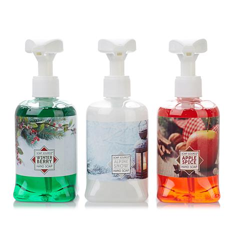 Holiday Set of 3 Musical Soap Pumps