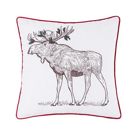 Holly Moose Pillow