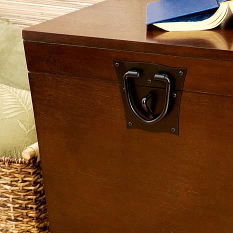 Perfect ... Home Espresso Pyramid Trunk End Table ...