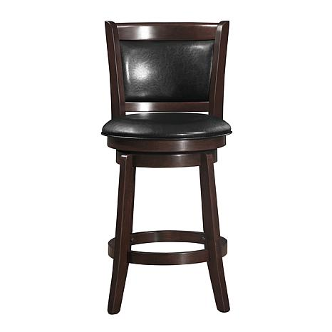 "Home Origin 24"" Swivel and Padded-Back Counter Chair"