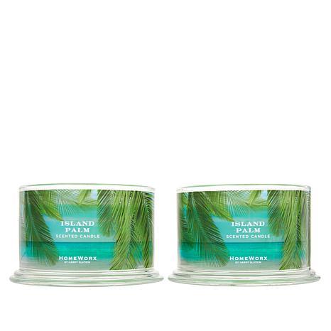 HomeWorx by Harry Slatkin 2-pack 4-Wick Candles - Island Palm