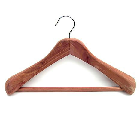 Household Essentials Contoured Cedar Coat Hanger