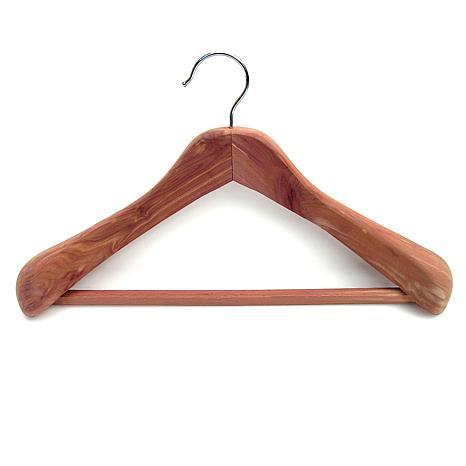 Household Essentials Contoured Cedar Coat Hanger