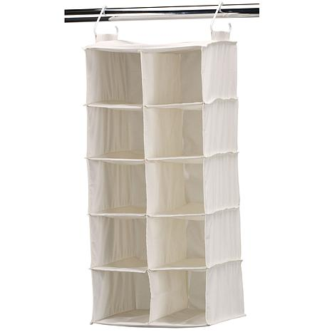Household Essentials Doublewide Shoe Organizer-Natural