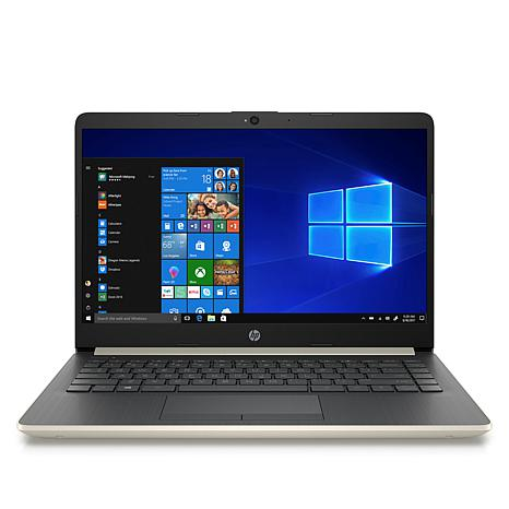 """HP 14"""" AMD A4 Dual-Core 64GB eMMC Laptop with Microsoft Office 365"""