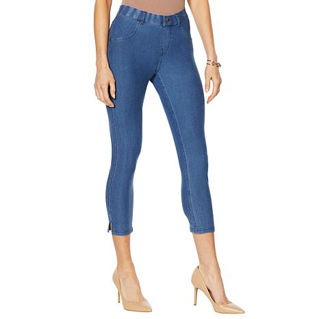 HUE Essential Denim Capri Legging - Missy