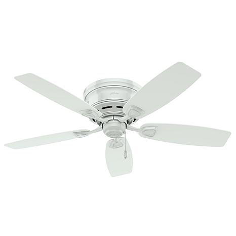 """Hunter 48"""" Sea Wind  Outdoor Low Profile Ceiling Fan - White"""