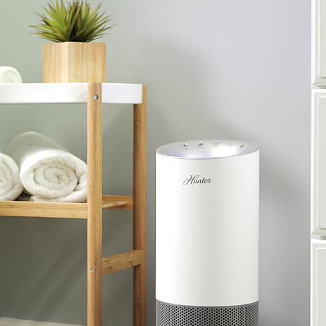 Hunter Tower Air Purifier with EcoSilver and True HEPA Filters