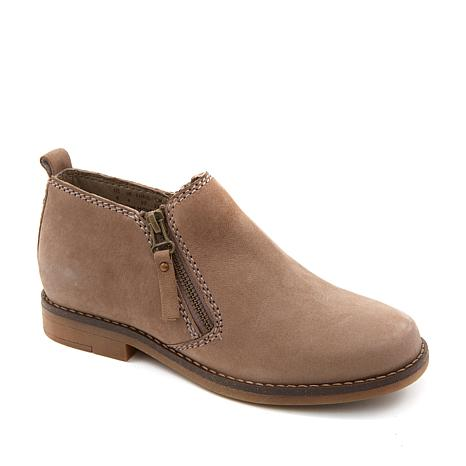 Hush Puppies Mazin Cayto Nubuck Leather Dual-Zip Bootie
