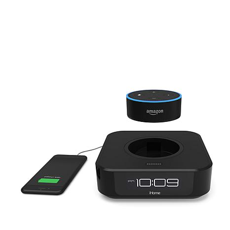 iHome Bedside Clock Speaker System for Amazon Dot
