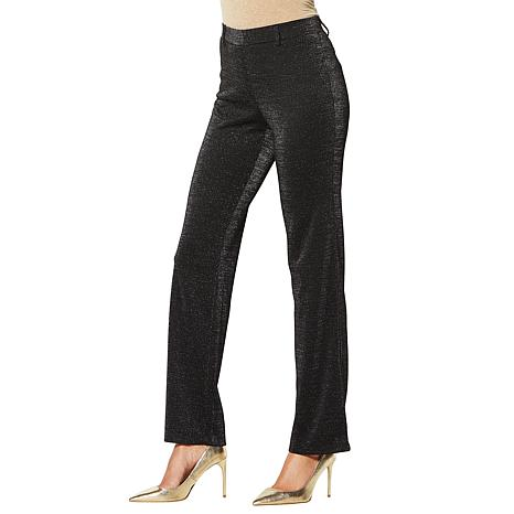 IMAN Global Chic Dressed & Ready Shimmer Ponte Bootcut Pant