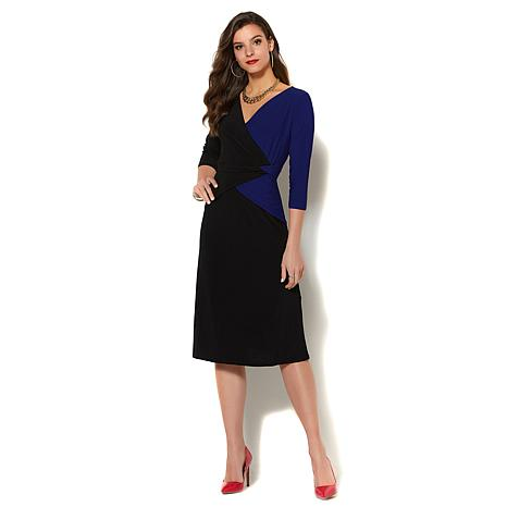 IMAN Global Chic Luxurious Colorblock Dress