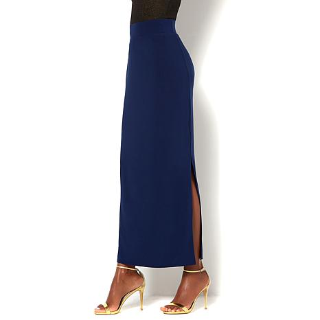 IMAN Global Chic Luxurious Skirt with Side Slit