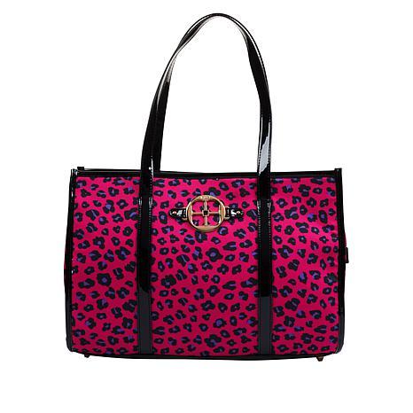 IMAN Global Chic Luxury Resort Cheetah-Print Tote