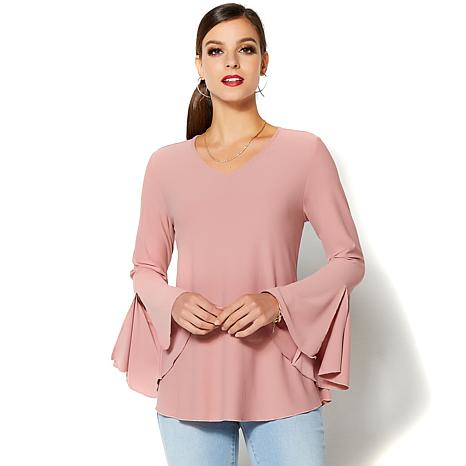 4b2a4c5e935d7 IMAN Runway Chic Luxurious Bell-Sleeve Top - Fashion - 8771745