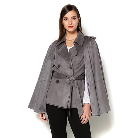 jacket draped drape products in look cognac great justfab suede drapes get faux at front deals shop this