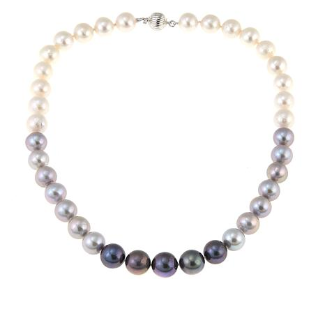 "Imperial Pearls 10.5-12mm Black Multi Cultured Pearl 17-1/2"" Necklace"