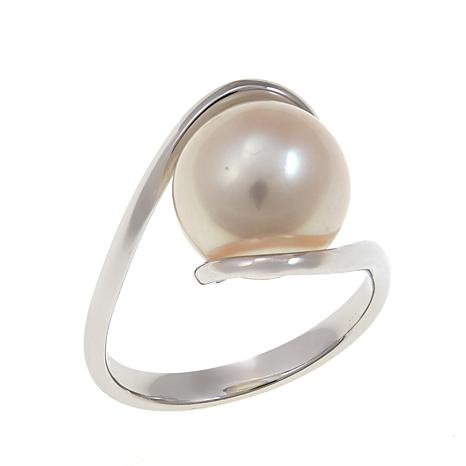Imperial Pearls 11-12mm White Cultured Pearl Bypass Ring