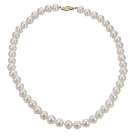 """Imperial Pearls 16"""" 14K 8-8.5mm Cultured Freshwater Pearl Necklace"""