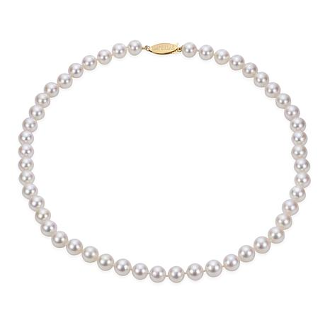 """Imperial Pearls 16"""" 14K Gold 6.5-7mm Cultured Akoya Pearl Necklace"""