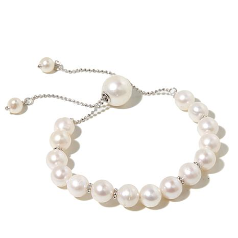 Imperial Pearls 5 11 5mm Cultured Freshwater Pearl Sterling Silver Adjule Slide Bracelet