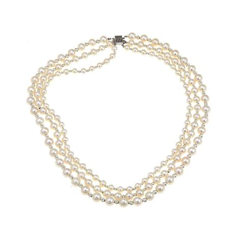 Imperial Pearls 6-6.5mm Cultured Pearl  3-Row Necklace